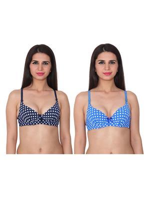 Ansh Fashion Wear 2Cm-769-9-8 Multicolored Women Bra Set Of 2