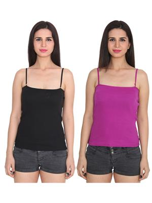 Ansh Fashion Wear 2Cm-Spg-229-1-23 Multicolored Women Camisole Set Of 2
