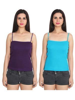 Ansh Fashion Wear 2Cm-Spg-229-11-8 Multicolored Women Camisole Set Of 2