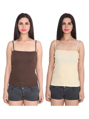 Ansh Fashion Wear 2Cm-Spg-229-12-3 Multicolored Women Camisole Set Of 2