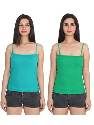 Ansh Fashion Wear 2Cm-Spg-229-15-24 Multicolored Women Camisole Set Of 2