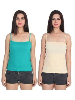 Ansh Fashion Wear 2Cm-Spg-229-15-3 Multicolored Women Camisole Set Of 2
