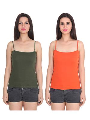 Ansh Fashion Wear 2Cm-Spg-229-16-17 Multicolored Women Camisole Set Of 2