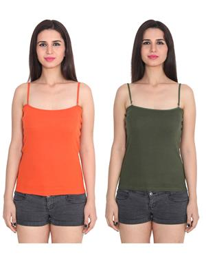Ansh Fashion Wear 2Cm-Spg-229-17-16 Multicolored Women Camisole Set Of 2