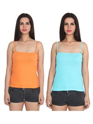 Ansh Fashion Wear 2Cm-Spg-229-18-21 Multicolored Women Camisole Set Of 2
