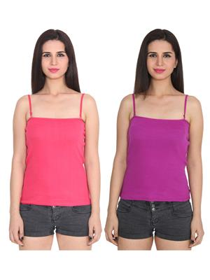 Ansh Fashion Wear 2Cm-Spg-229-19-23 Multicolored Women Camisole Set Of 2