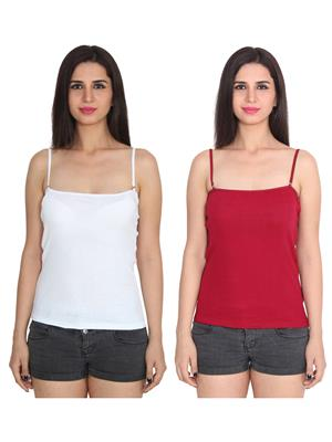 Ansh Fashion Wear 2Cm-Spg-229-2-7 Multicolored Women Camisole Set Of 2
