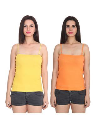 Ansh Fashion Wear 2Cm-Spg-229-20-18 Multicolored Women Camisole Set Of 2