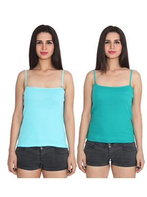 Ansh Fashion Wear 2Cm-Spg-229-21-15 Multicolored Women Camisole Set Of 2
