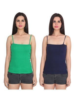 Ansh Fashion Wear 2Cm-Spg-229-24-10 Multicolored Women Camisole Set Of 2