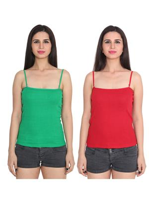 Ansh Fashion Wear 2Cm-Spg-229-24-6 Multicolored Women Camisole Set Of 2