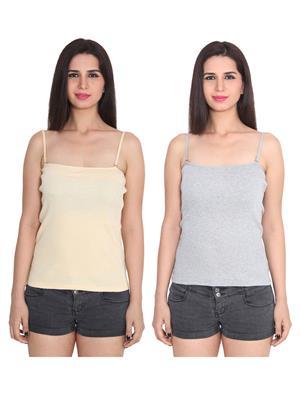 Ansh Fashion Wear 2Cm-Spg-229-3-4 Multicolored Women Camisole Set Of 2