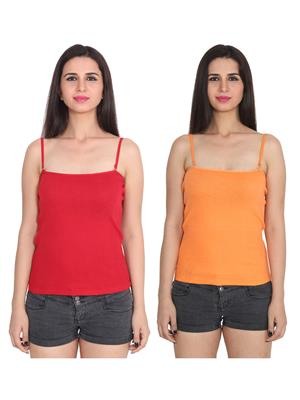 Ansh Fashion Wear 2Cm-Spg-229-6-18 Multicolored Women Camisole Set Of 2