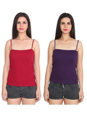 Ansh Fashion Wear 2Cm-Spg-229-7-11 Multicolored Women Camisole Set Of 2