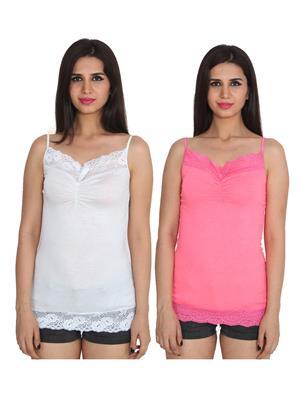Ansh Fashion Wear 2Cm-Spg-2629-2-19 Multicolored Women Camsoles Set Of 2