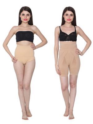 Ansh Fashion Wear 2Cm-Tmy-29130-8030-A Beige Women Shapewear Set Of 2