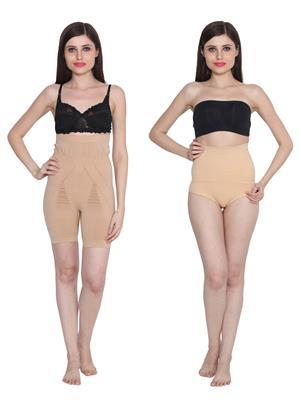 Ansh Fashion Wear 2Cm-Tmy-29130-8030-B Beige Women Shapewear Set Of 2