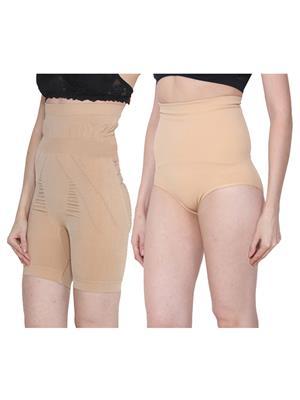 Ansh Fashion Wear 2Cm-Tmy-29130-8030-C Beige Women Shapewear Set Of 2