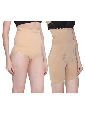 Ansh Fashion Wear 2Cm-Tmy-29130-8030-D Beige Women Shapewear Set Of 2