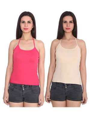 Ansh Fashion Wear 2Cm-19-3 Multicolored Women Camisole Set Of 2