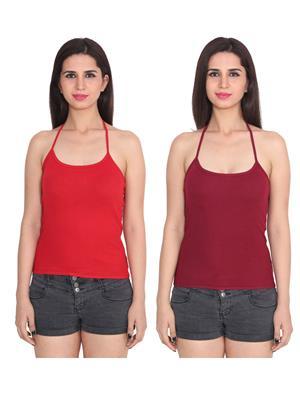 Ansh Fashion Wear 2Cm-6-7 Multicolored Women Camisole Set Of 2