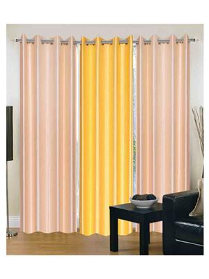 SAI ARPAN 2CREAM-1YELLOW-7FT Multicolor Door Curtain