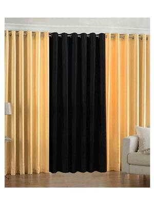 SAI ARPAN 2YELLOW-1BLACK Multicolor Door Curtain