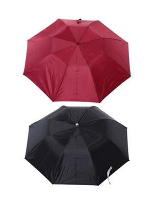Slr Umbrella 2 F Black & Maroon Umbrella Combo