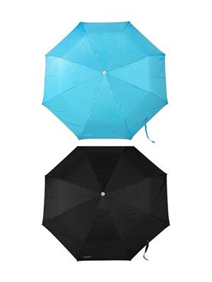 Slr Umbrella 2 F Black & Sky Blue Umbrella Combo