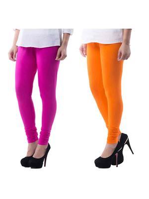 Medha 2combo71620 Churidar Leggings Pack of 2