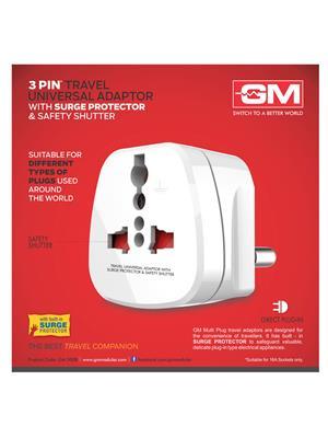 Gm 3008 White Universal-World Travel Adaptor