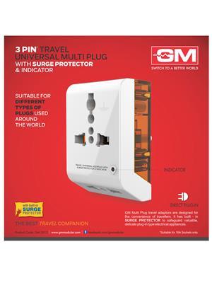 Gm 3012 White Universal-World Travel Adaptor
