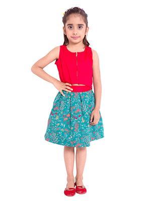 Fbbic 3030 Multicolored Girl Skirt