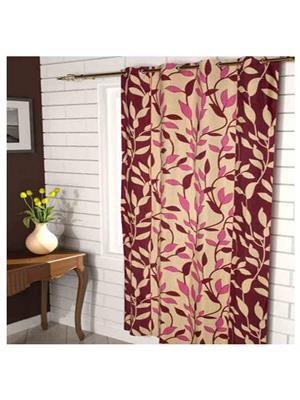 SAI ARPAN 3051-5F-1 Maroon Window Curtain