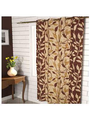 SAI ARPAN 3052-7FT-1PC Brown Door Curtain