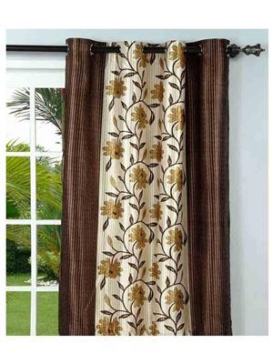 SAI ARPAN 3053-7F-1 Brown Door Curtain