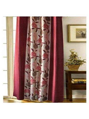 SAI ARPAN 3055-7-2 Maroon Door Curtain