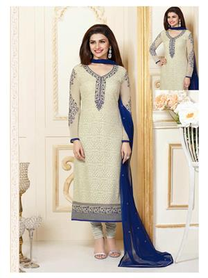 Rahi Fashion 3301 White Women Salwar Suit