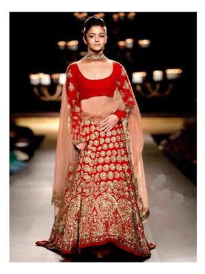 Ethnic Culture 347 Red Women Lehenga Choli