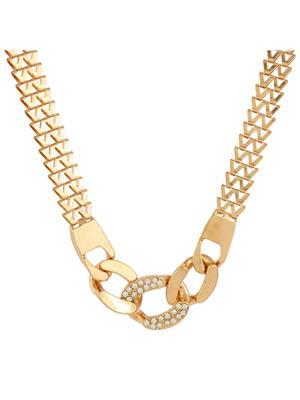 Fayon 35093 Gold  Fabulous Statement Women Princess Necklace