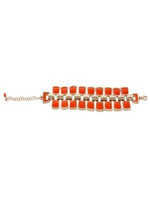 Fayon 38018 Orange Women Chain Bracelet