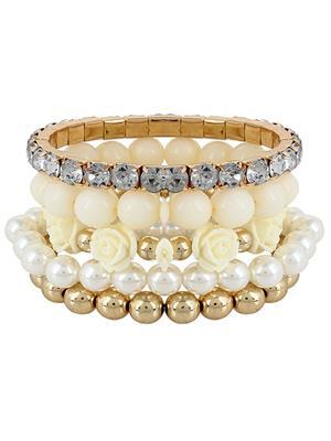 Fayon 38067 White Women Beaded Bracelet