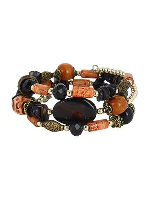 Fayon 38116 Black Women Beaded Bracelet