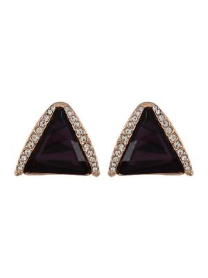 Fayon 39082 Purple Fashion Statement Women Stud Earring