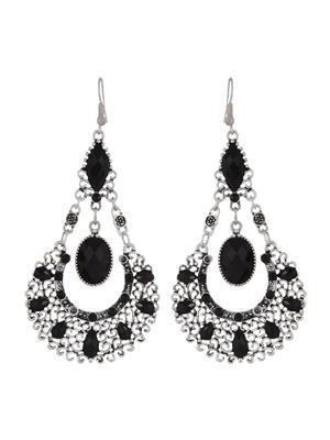 Fayon 39136 Black Chic Stylish Women  Dangler Earring