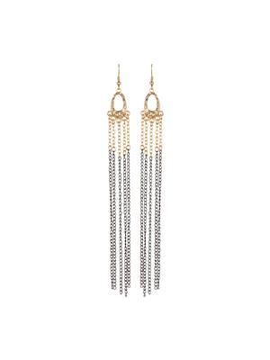 Fayon 39297 Grey  Trenndy Costume Women  Dangler Earring