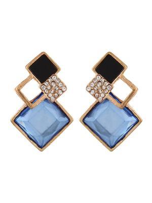 Fayon 39307 Blue Chicc Stylish Geometric Women Stud Earring