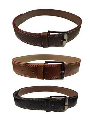 Ansh Fashion Wear 3CM-BELT-1 Brown-Black Men Belts Set Of 3