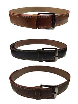 Ansh Fashion Wear 3CM-BELT-2 Brown-Black Men Belts Set Of 3