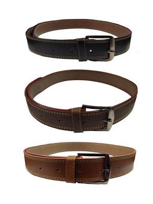 Ansh Fashion Wear 3CM-BELT-3 Brown-Black Men Belts Set Of 3